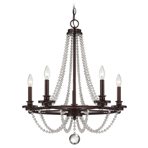 Savoy House Savoy House Mohican Bronze Crystal Chandelier 1-8350-5-121