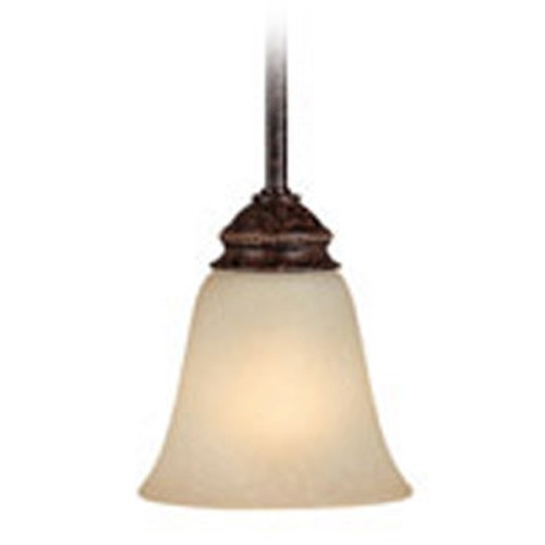 Capital Lighting Capital Lighting Barclay Chesterfield Brown Mini-Pendant Light with Bell Shade 3581CB-287