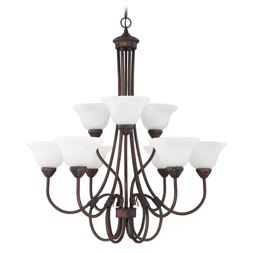 Capital Lighting Capital Lighting Hometown Burnished Bronze Chandelier 3229BB-220