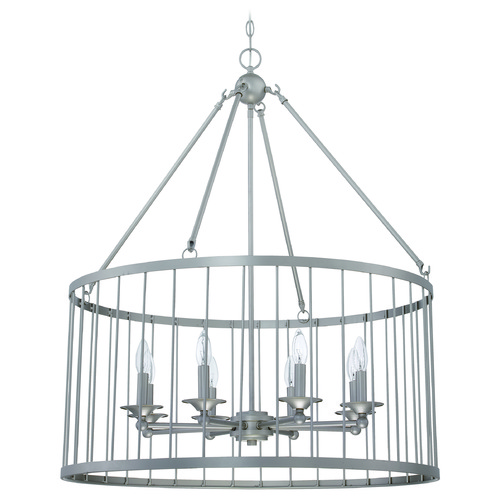 Jeremiah Lighting Jeremiah Lighting Villa Satin Nickel Pendant Light 39438-SN