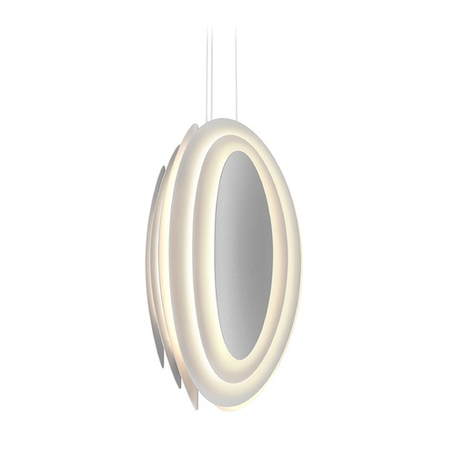Sonneman Lighting Sonneman a Way of Light Abstract Rhythms Textured White LED Pendant Light with Abstract Shade 2697.98