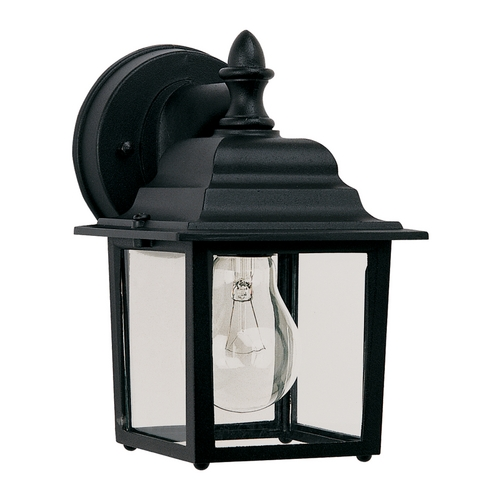 Maxim Lighting Outdoor Wall Light with Clear Glass in Black Finish 1025BK