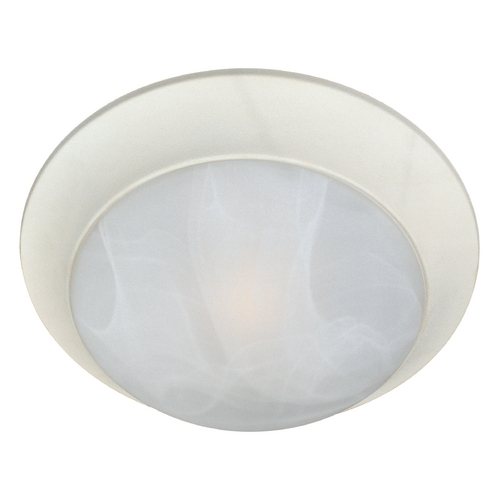 Maxim Lighting Flushmount Light with White Glass in Textured White Finish 5852MRTW