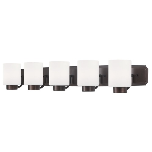 Dolan Designs Lighting Modern Bathroom Light in Bronze Finish with Cylinder Glass Shades 3505-62