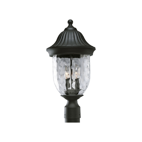Progress Lighting Progress Post Light with Clear Glass in Textured Black Finish P5429-31