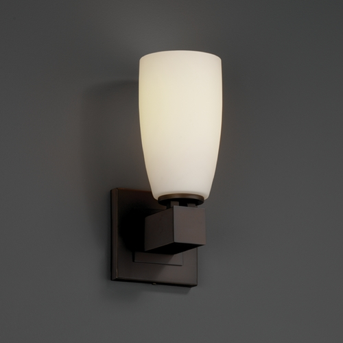 Justice Design Group Justice Design Group Fusion Collection Sconce FSN-8705-28-OPAL-DBRZ