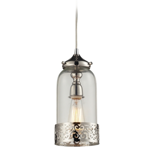 Elk Lighting Mini-Pendant Light with Clear Glass 63025-1