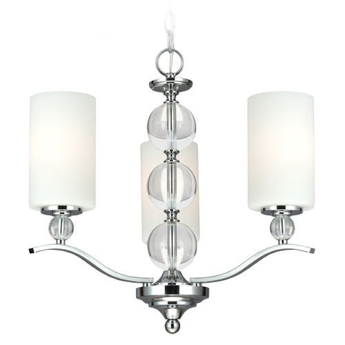 Sea Gull Lighting Sea Gull Lighting Englehorn Chrome / Optic Crystal Mini-Chandelier 3113403-05