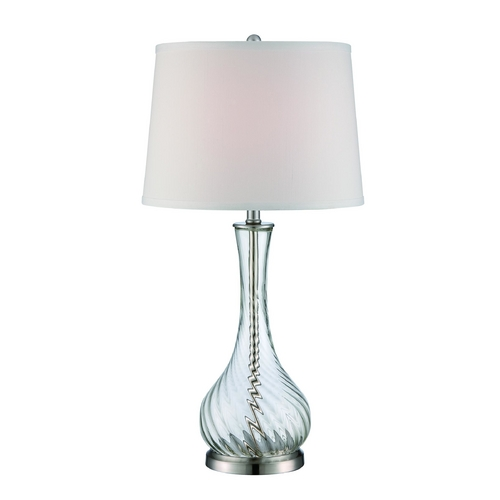 Lite Source Lighting Lite Source Lighting Hailey Polished Steel Table Lamp with Drum Shade LS-22504