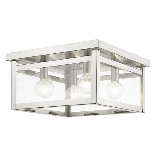 Livex Lighting Livex Lighting Milford Brushed Nickel Flushmount Light 4032-91