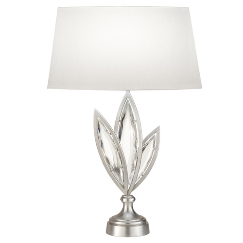 Fine Art Lamps Fine Art Lamps Marquise Platinized Silver Leaf Table Lamp with Oval Shade 854410-12ST