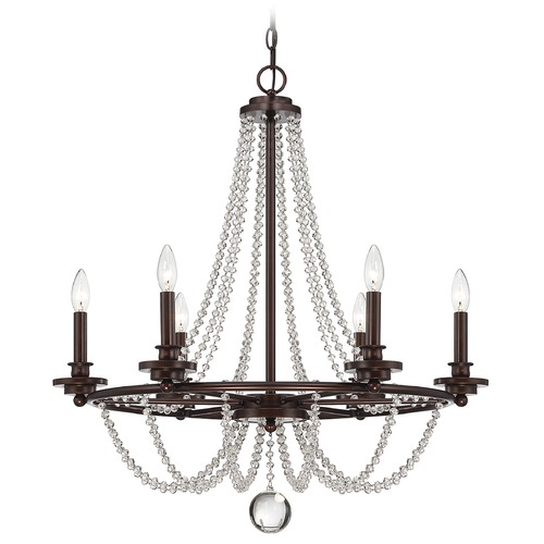 Savoy House Savoy House Mohican Bronze Crystal Chandelier 1-8351-6-121