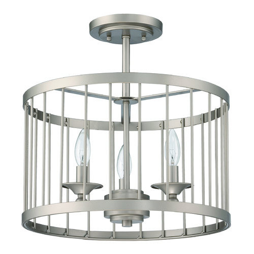 Jeremiah Lighting Jeremiah Lighting Villa Satin Nickel Semi-Flushmount Light 39453-SN