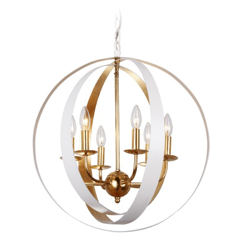 Crystorama Lighting Crystorama Lighting Luna Matte White Pendant Light 585-MT-GA