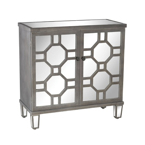 Sterling Lighting Sterling Cheyne Walk Mirrored Cabinet In Black And White Dust 3183-005