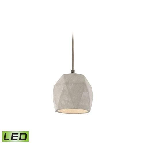 Elk Lighting Elk Lighting Urban Form Black Nickel LED Mini-Pendant Light with Bowl / Dome Shade 45330/1-LED