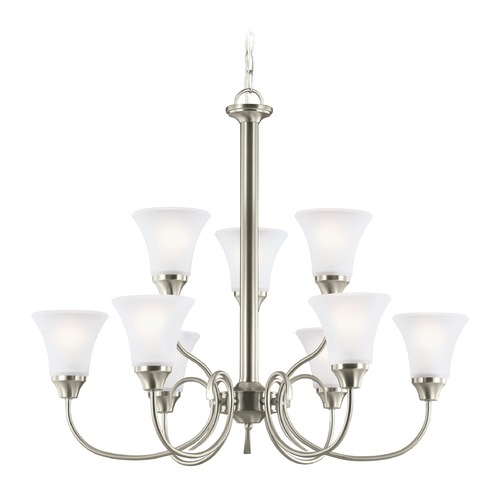 Sea Gull Lighting Sea Gull Lighting Holman Brushed Nickel LED Chandelier 31810EN3-962
