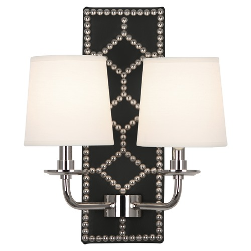 Robert Abbey Lighting Robert Abbey Lighting Williamsburg Lightfoot Wall Sconce with Fondine Fabric Shades S1035