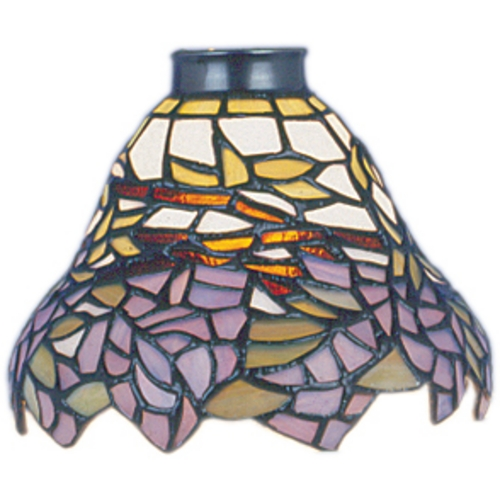 Elk Lighting Conical Tiffany Glass Shade - 2-1/4-Inch Fitter 999-28