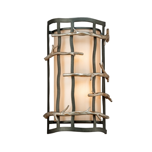 Troy Lighting Sconce Wall Light in Graphite and Silver Finish B2882