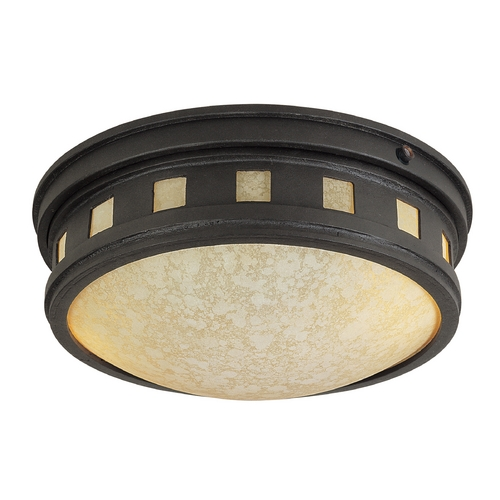 Designers Fountain Lighting Close To Ceiling Light with Amber Glass in Oil Rubbed Bronze Finish ES2375-AM-ORB