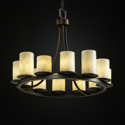 Justice Design Group Justice Design Group Clouds Collection Chandelier CLD-8768-10-DBRZ