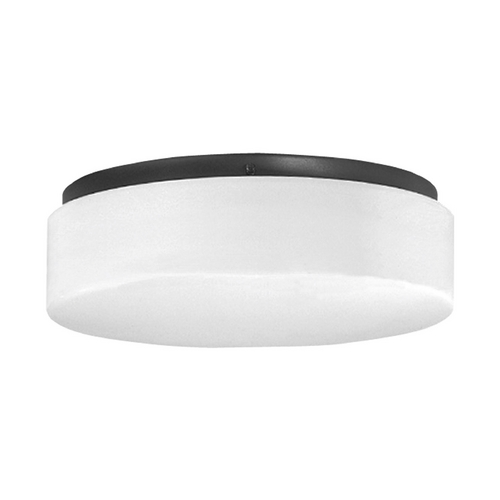 Progress Lighting Progress Close To Ceiling Light with White in Black Finish P7376-31