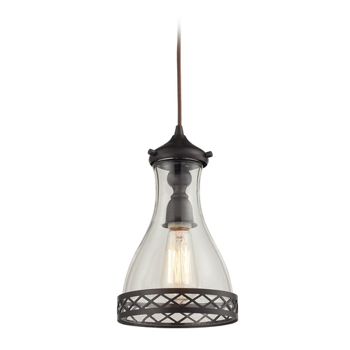 Elk Lighting Mini-Pendant Light with Clear Glass 63034-1