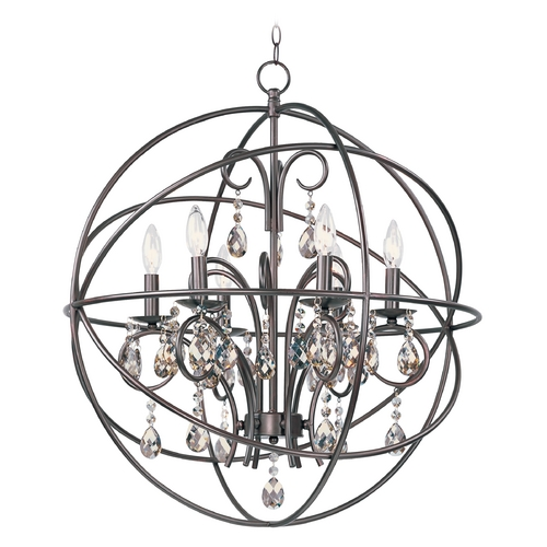 Maxim Lighting Maxim Lighting Orbit Oil Rubbed Bronze Pendant Light with Globe Shade 25144OI