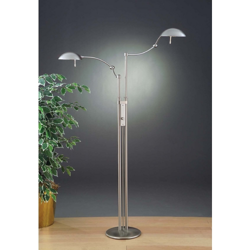 Holtkoetter Lighting Holtkoetter Modern Swing Arm Lamp in Satin Nickel Finish 6451 SN