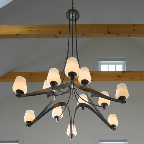 Hubbardton Forge Lighting Hubbardton Forge Lighting Ribbon Dark Smoke Chandelier 19415612HG07ZX300