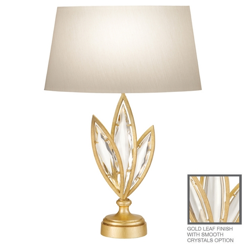 Fine Art Lamps Fine Art Lamps Marquise Florentine Brushed Gold Leaf Table Lamp with Oval Shade 854410-21ST