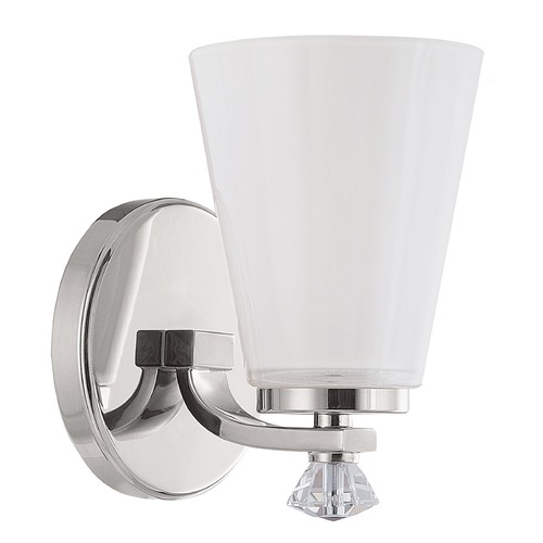 Capital Lighting Capital Lighting Alisa Polished Nickel Sconce 8021PN-127