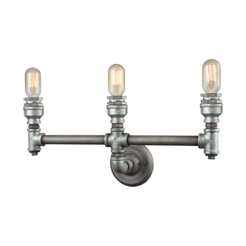 Elk Lighting Elk Lighting Cast Iron Pipe Weathered Zinc Bathroom Light 10684/3