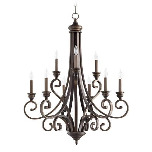 Quorum Lighting Quorum Lighting Bryant Oiled Bronze Chandelier 6054-9-86