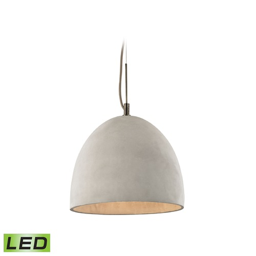 Elk Lighting Elk Lighting Urban Form Black Nickel LED Pendant Light with Bowl / Dome Shade 45334/1-LED