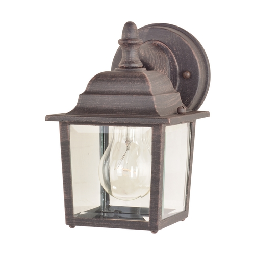 Maxim Lighting Outdoor Wall Light with Clear Glass in Rust Patina Finish 1025RP