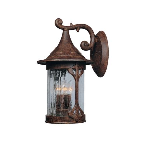 Designers Fountain Lighting Outdoor Wall Light with Clear Glass in Chestnut Finish 20931-CHN