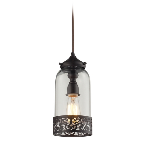 Elk Lighting Mini-Pendant Light with Clear Glass 63035-1