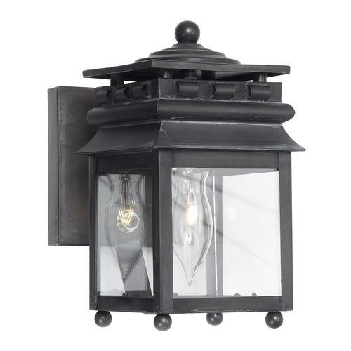 Elk Lighting Outdoor Wall Light with Clear Glass in Charcoal Finish 801-C