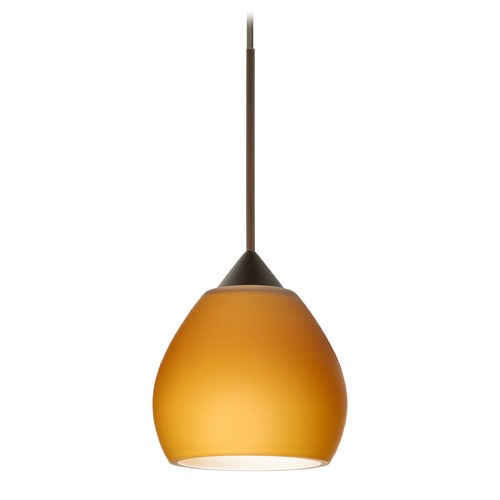 Besa Lighting Besa Lighting Tay Bronze LED Mini-Pendant Light with Bell Shade 1XT-560580-LED-BR