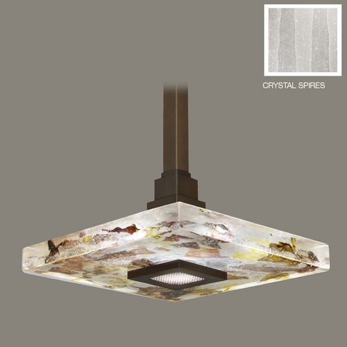 Fine Art Lamps Fine Art Lamps Crystal Bakehouse Bronze Pendant Light with Square Shade 818840-13ST