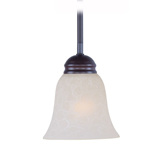 Maxim Lighting Maxim Lighting Mini Pendants Oil Rubbed Bronze Mini-Pendant Light with Bell Shade 91011ICOI