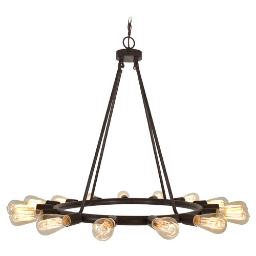 Crystorama Lighting Crystorama Dakota 6-Light Chandelier in Charcoal Bronze 9046-CZ