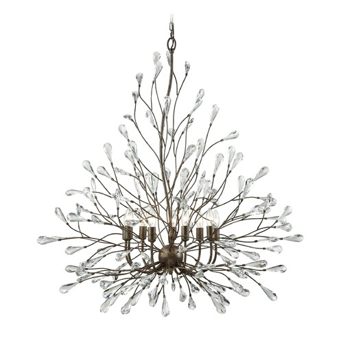 Elk Lighting Elk Lighting Crislett Sunglow Bronze Chandelier 18244/9
