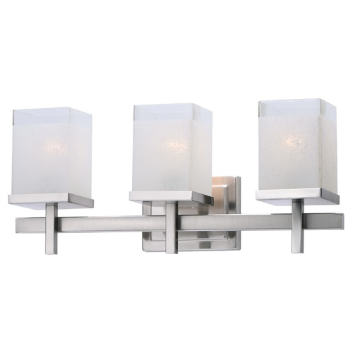 Maxim Lighting Maxim Lighting Tetra Satin Nickel Bathroom Light 2153LNSN