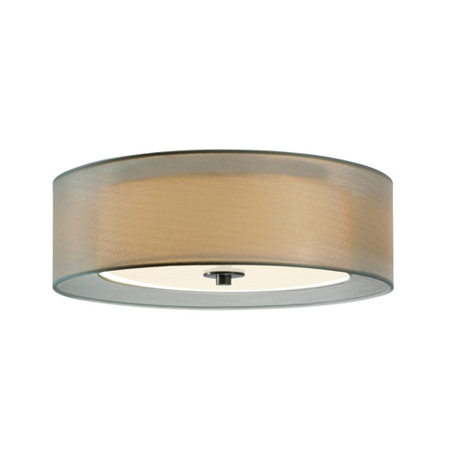 Sonneman Lighting Modern Flushmount Light with Silver Shades in Satin Nickel Finish 6013.13F