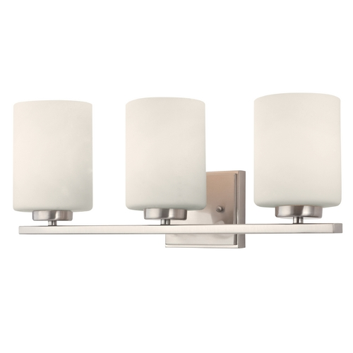 Dolan Designs Lighting Modern Bathroom Light in Satin Nickel Finish with Three Lights 3883-09