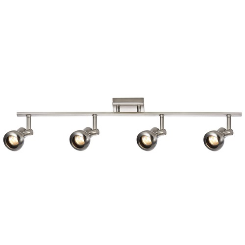 Recesso Lighting by Dolan Designs Track Light with 4 Spot Lights - Satin Nickel - GU10 Base TR0304-SN