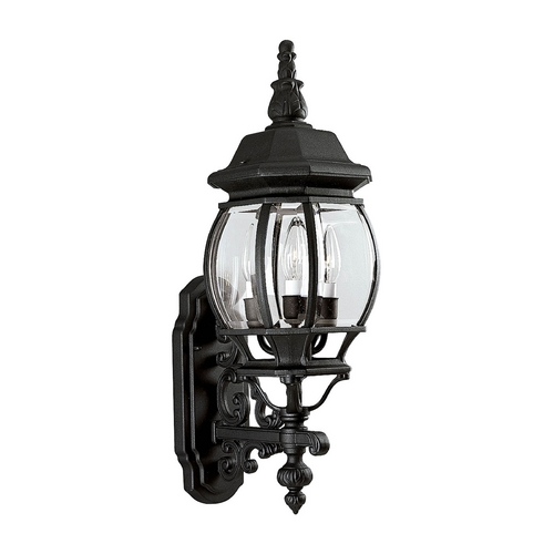 Progress Lighting Progress Outdoor Wall Light with Clear Glass in Textured Black Finish P5700-31